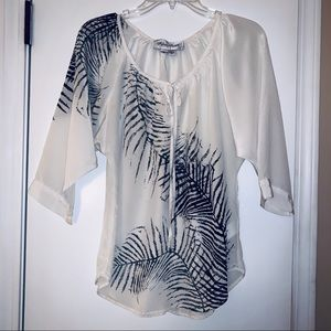 Fifteen twenty palm leaf blouse